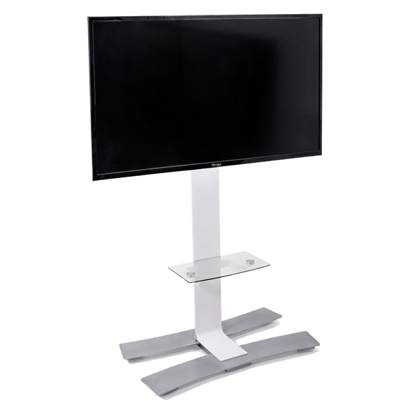 "ERARD WILL™ 1400 Mobile Stand with Shelf for 40""- 75"" TV Screens - White"