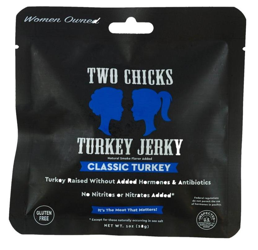 Two Chicks Turkey Jerky, 1oz (12 bags!)