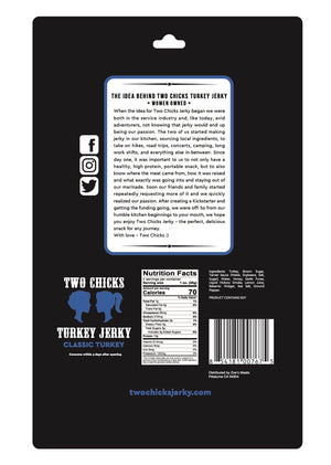 Two Chicks Turkey Jerky, 2oz (12 bags!)