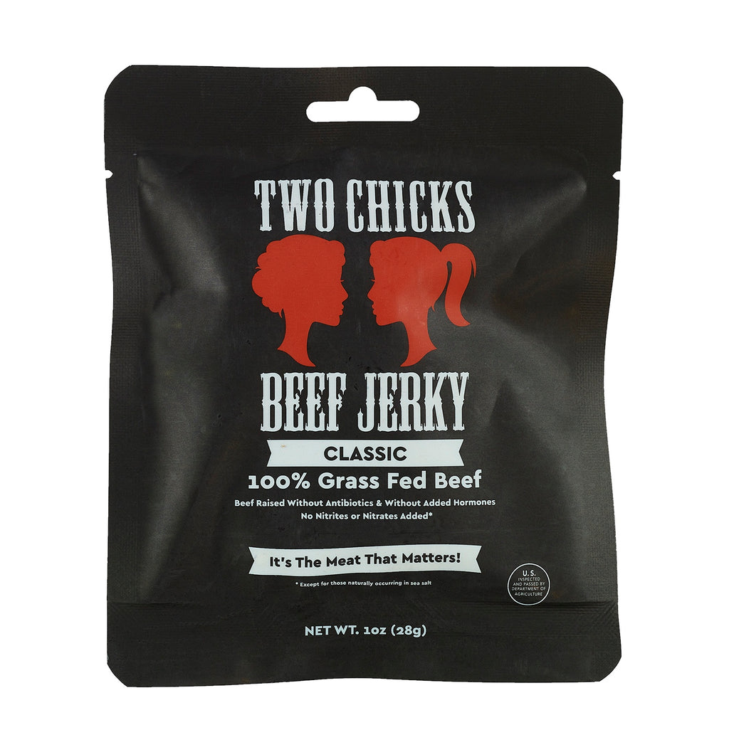 Two Chicks Beef Jerky - Classic, 1oz (12 bags!)