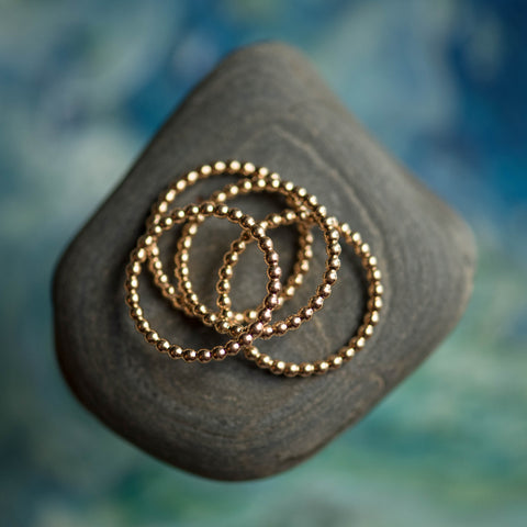 Bead Ring in Gold Filled