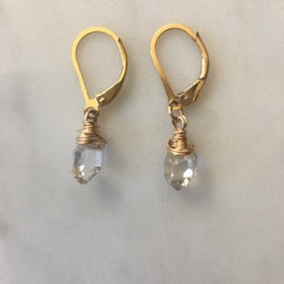 Herkimer Diamond Wire Wrapped Earrings