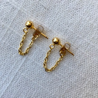Mini Chain Post Earrings