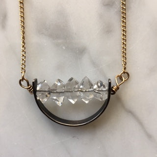 Herkimer Diamond Mixed Metal Necklace