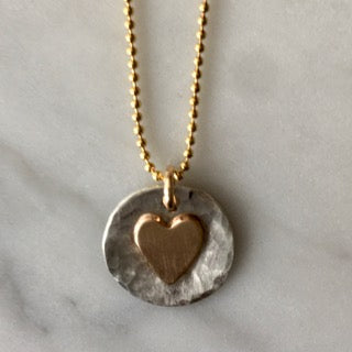 Radiate Love Heart Necklace-Mixed Metal Collection