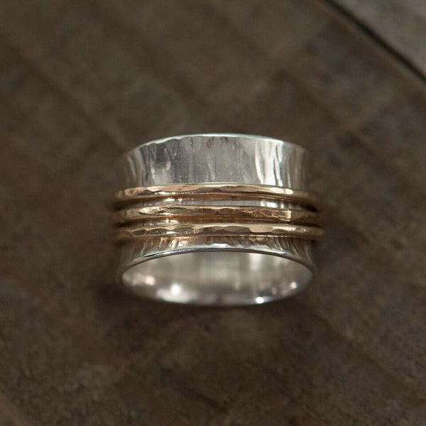 Trio Of Gold Spinner Ring