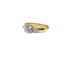 Golden Anvil Jewelers | 14Kt Yellow Gold Diamond Engagement Ring