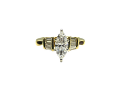 18kt Yellow Gold Marquise 1ct Diamond Ring