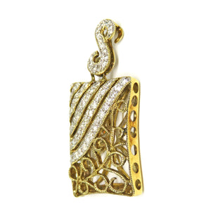 14kt Yellow Gold Diamond Pendant