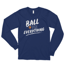 Ball Over Everything - White Long Sleeve Tee