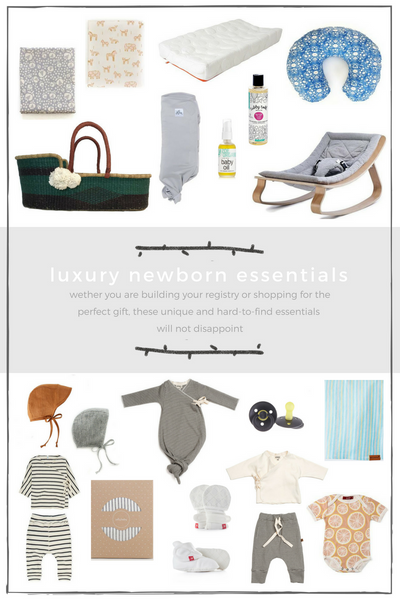 Gift Guide: Luxury Newborn Essentials, Part 1: Clothing and Nursery