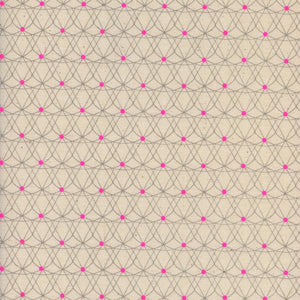Pre-Order: Crib Sheet - Black and White - Crinoline in Neon Pink