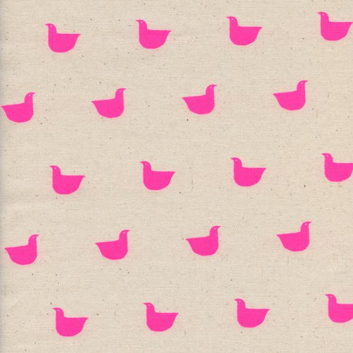 Pre-Order: Changing Pad Cover - Black and White - Quackers in Neon Pink