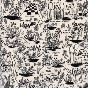 Pre-Order: Changing Pad Cover - Rifle Paper Co. Wonderland - Magic Forest in Natural