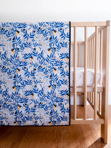 Organic Wholecloth Quilt - No Place Like Home - King of Beasts in Blue