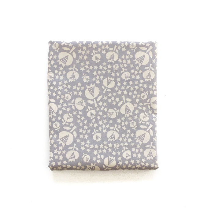 Changing Pad Cover - Flower Shop - Thistle in Grey