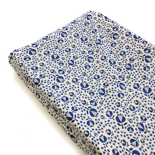 Changing Pad Cover - Flower Shop - Thistle in Indigo