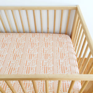 Crib Sheet - Flower Shop - Charms in Peach