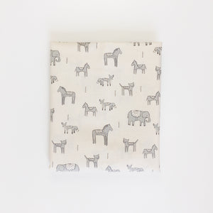 Crib Sheet - Flower Shop - Dala Friends in Grey