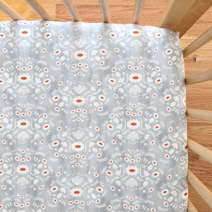 Crib Sheet - Flower Shop - Folk in Grey