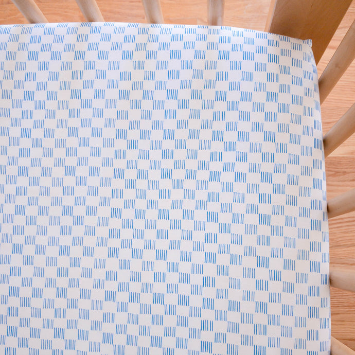 Organic Crib Sheet - No Place Like Home - Dorothy in Blue