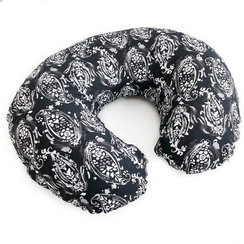 Boppy Cover - Watercolor Paisley in Black