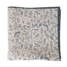 Canvas Wholecloth Quilt - Rifle Paper Co. - Black Forest in Blue