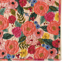 Canvas Wholecloth Quilt - Rifle Paper Co. - Juliet Rose in Coral