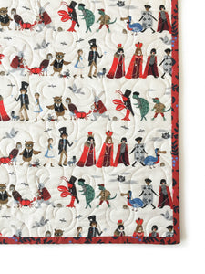 Canvas Wholecloth Quilt - Rifle Paper Co. - Alice in Navy