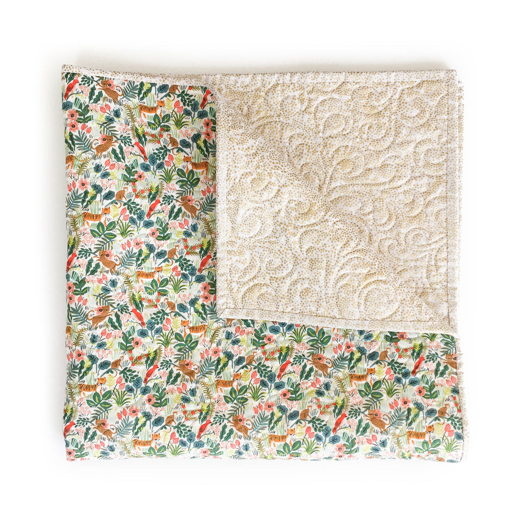 Wholecloth Quilt - Rifle Paper Co. Menagerie in Natural