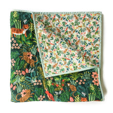 Canvas Wholecloth Quilt - Rifle Paper Co. Menagerie - Jungle in Hunter