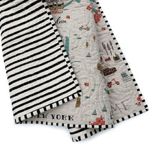 Canvas Wholecloth Quilt - Rifle Paper Co. City Maps in Black