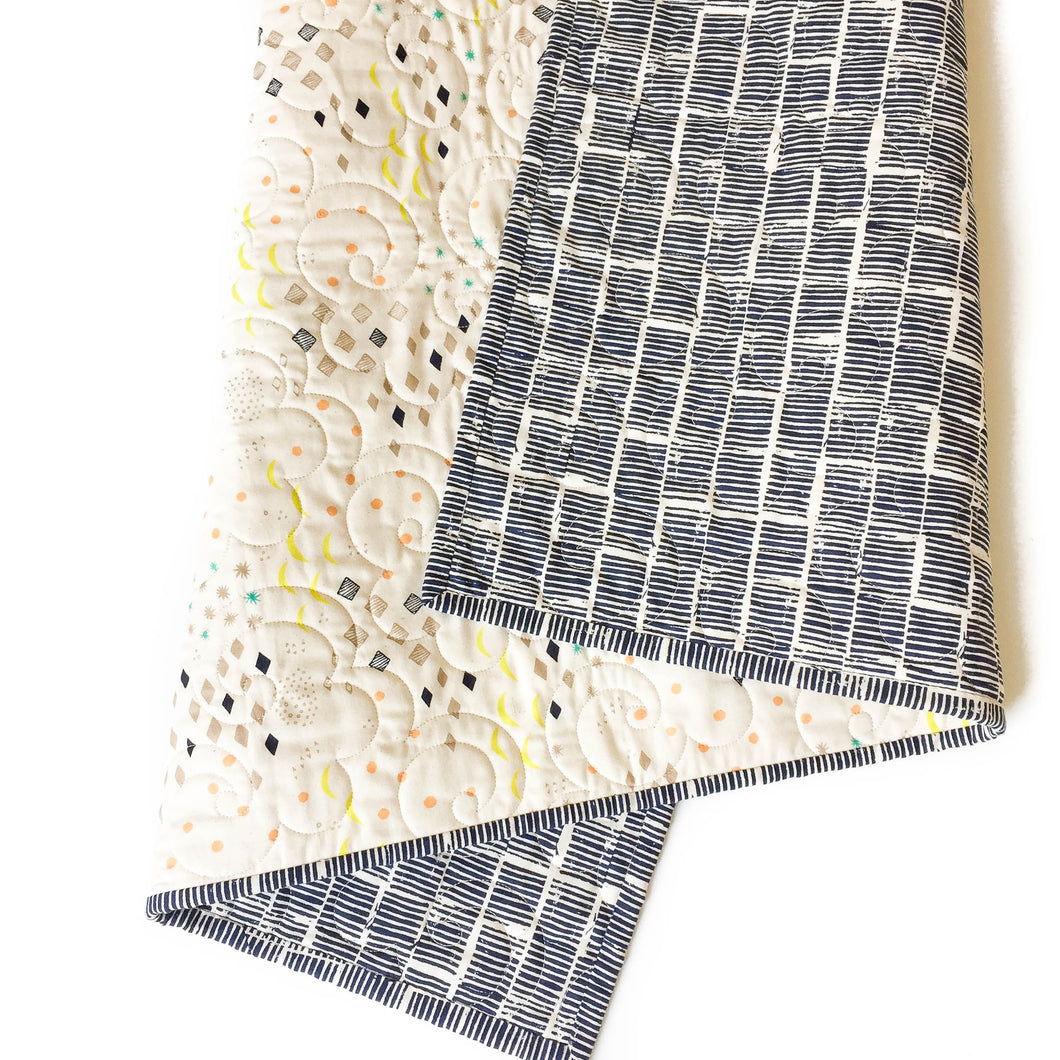 Wholecloth Quilt - Sienna in Indigo