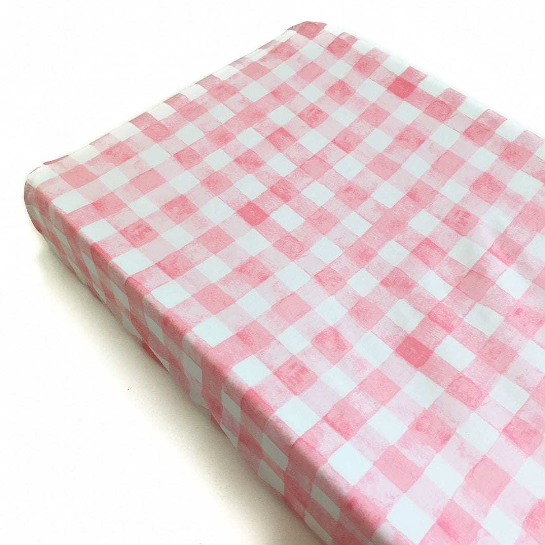 Changing Pad Cover - Sommer - Painted Gingham in Pink