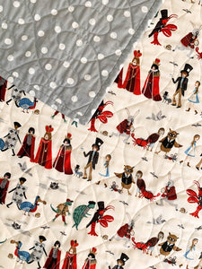 Wholecloth Quilt - Rifle Paper Co. Procession in Natural