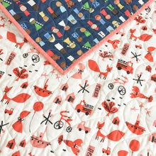 Wholecloth Quilt - Spectacle Commotion in Red