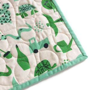 Wholecloth Quilt - Spectacle Flourish in Green