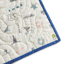 Canvas Wholecloth Quilt - Kujira - Sightseeing in Cobalt