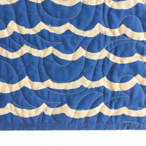Canvas Wholecloth Quilt - Kujira in Cobalt