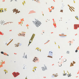 Crib Sheet - Rifle Paper Co. - Explorer in Cream