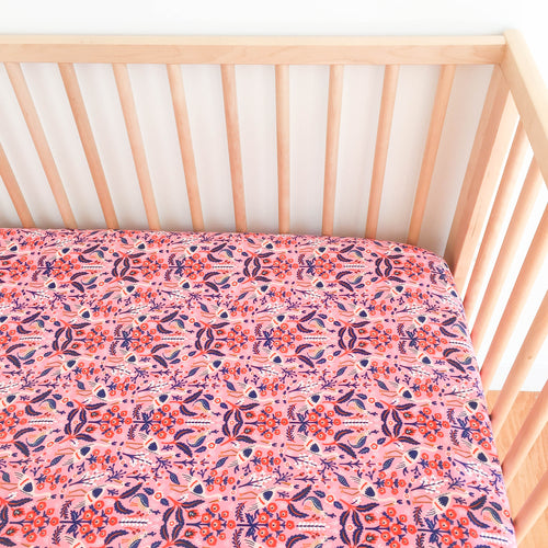 Crib Sheet - Rifle Paper Co. Les Fleurs - Tapestry in Rose