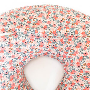 Boppy Cover - Rifle Paper Co. Les Fleurs - Rosa in Peach