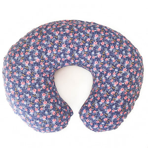 Boppy Cover - Rifle Paper Co. Les Fleurs - Rosa in Navy