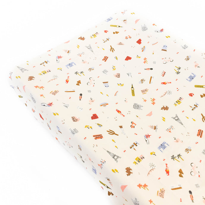 Changing Pad Cover - Rifle Paper Co. - Explorer in Cream