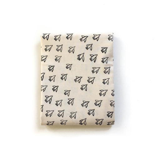 Pre-Order: Crib Sheet - Black and White - Flight in Natural