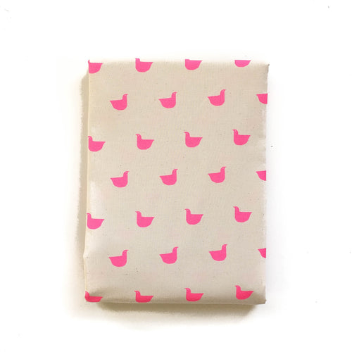 Pre-Order: Crib Sheet - Black and White - Quackers in Neon Pink