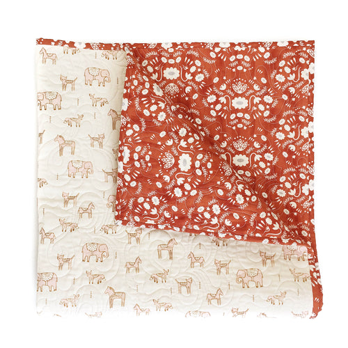 Wholecloth Quilt - Flower Shop in Pink
