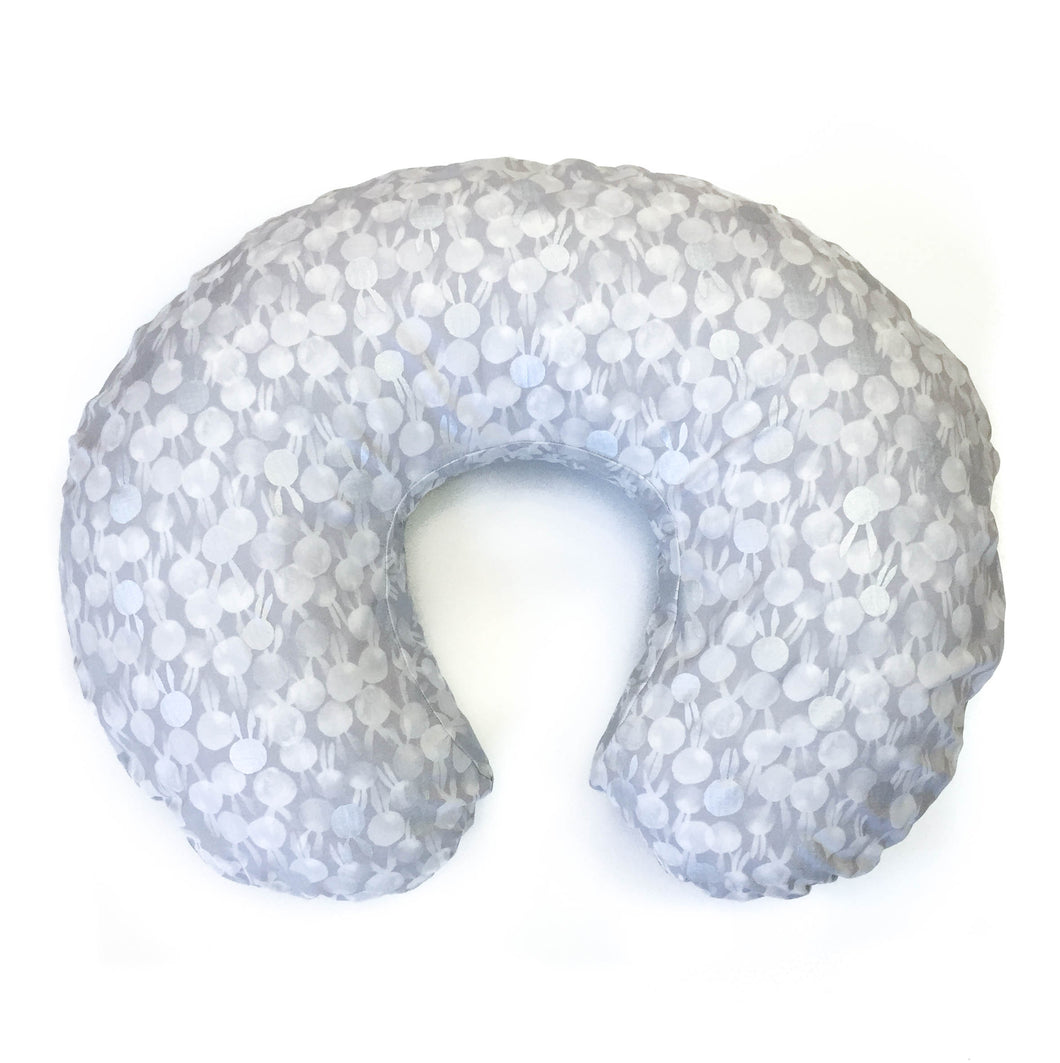 Boppy Cover - Sleep Tight - BunBuns in Grey Pearlescent