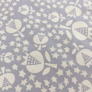 Crib Skirt - Flower Shop - Thistle in Grey