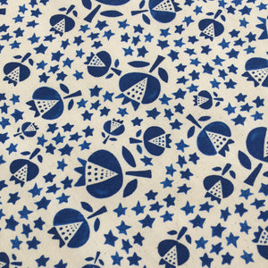 Crib Sheet - Flower Shop - Thistle in Indigo